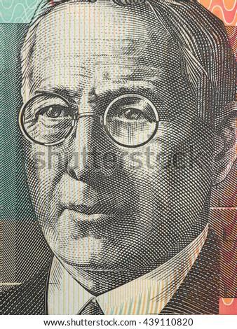 Australian paper money - stock photo