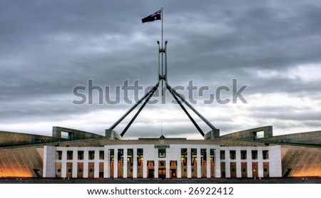 Australian Parliament House for the Federal Government in Canberra - stock photo