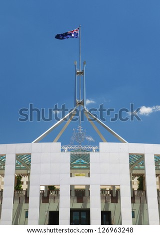 Australian Parliament House in Canberra - stock photo