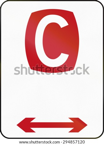 Australian regulatory sign: Clearway in both directions. - stock photo