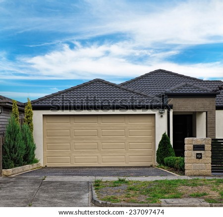 Australian residential house closeup - stock photo