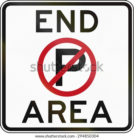 Australian road sign: End no parking area