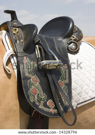 Australian Saddle - stock photo