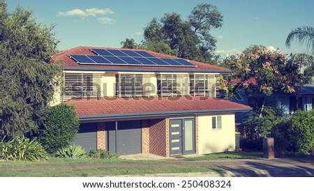 Australian solar panels - stock photo