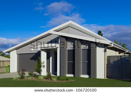 Australian suburban townhouse - stock photo
