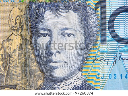 australian ten dollars note portrait