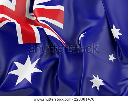 Australian Waving Flag with - stock photo