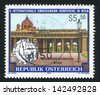 AUSTRIA - CIRCA 1992: stamp printed by Austria, shows arch, colonnade, street lamp, circa 1992 - stock photo