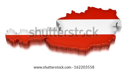 Austria  (clipping path included) - stock photo