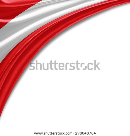 Austria flag of silk with copyspace for your text or images and white background - stock photo
