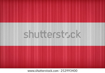 Austria flag pattern on the fabric curtain,vintage style
