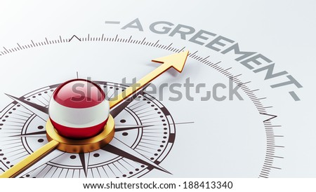 Austria High Resolution Agreement Concept - stock photo