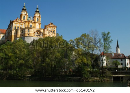 Austria, Melk Abbey in Danube Valley