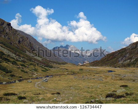Austria, Stubai valley, Oberberg valley with the Franz-Senn mountain hut