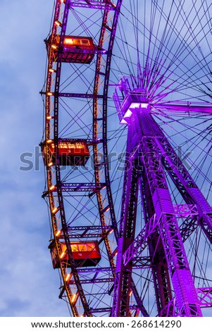 austria, vienna, ferris wheel. one of the landmarks of the city - stock photo