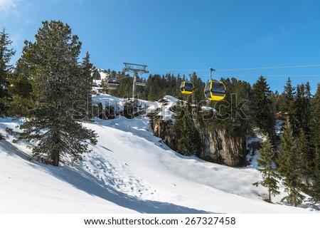 Austrian Alps, Mayrhofen ski resort - stock photo