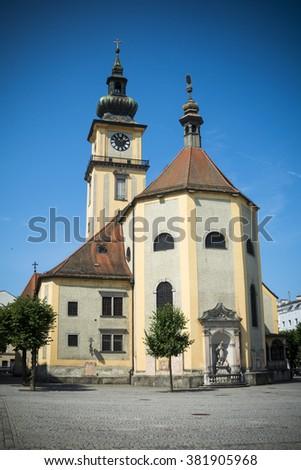 Austrian church - stock photo