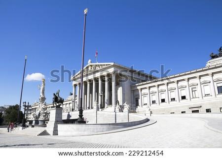 Austrian Parliament Building, Vienna - stock photo