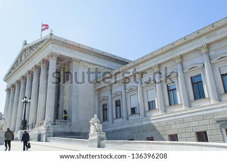 Austrian Parliament Building, Vienna, Austria - stock photo