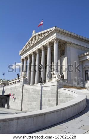 Austrian parliament, Vienna - stock photo