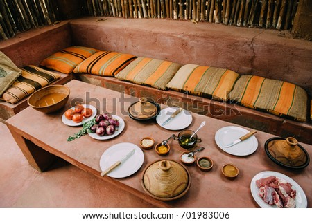 Authentic Moroccan Tagine Table Setting
