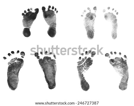 Birth certificate stock images royalty free images vectors authentic newborn baby ink footprints normal 7 pound baby and 2 pound premature baby birth yadclub Gallery