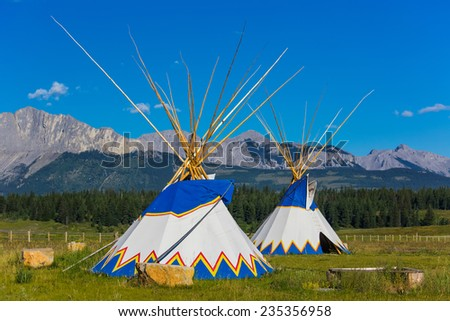 Authentic tepee of Native North Americans - stock photo