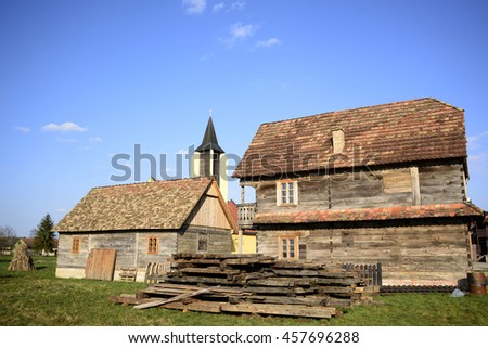 Authentic Turopolje architecture in Busevec, Croatia