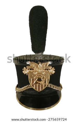 Authentic West Point military hat isolated on white. - stock photo