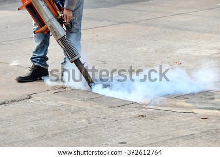 Authorities sprayed insecticide in the city.