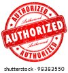 Authorized grunge stamp - stock vector