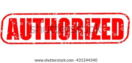 authorized stamp on white background. - stock photo
