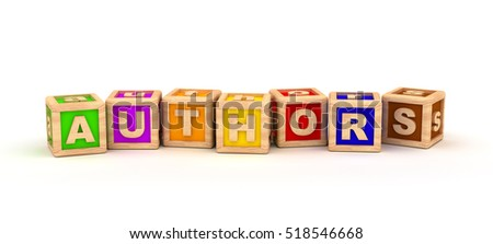 Authors Text Cube 3D rendering