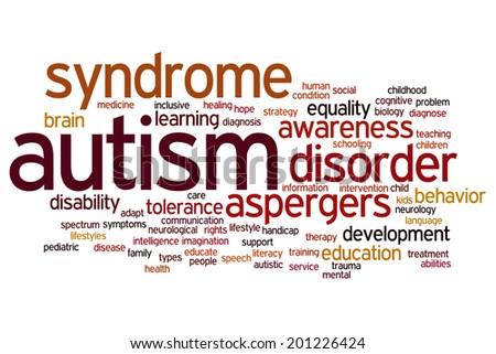 Autism concept word cloud background - stock photo