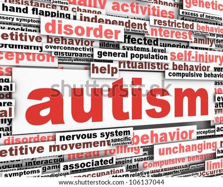 Autism conceptual design. Developmental disability message - stock photo
