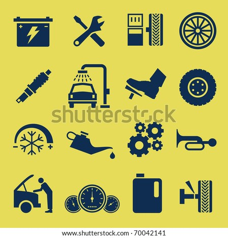 Auto Car Repair Service Icon Symbol - stock photo
