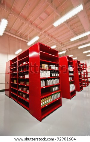 Auto Dealer Storage Area - stock photo