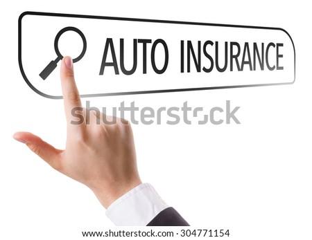 Auto Insurance written in search bar on virtual screen - stock photo