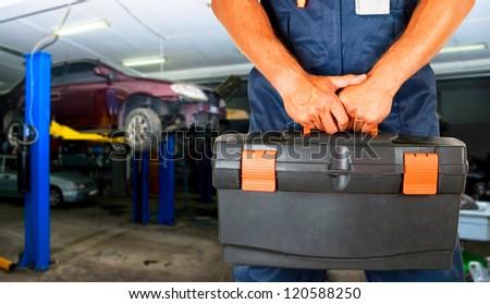 Auto mechanics - stock photo
