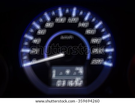 Auto Meter light bokeh