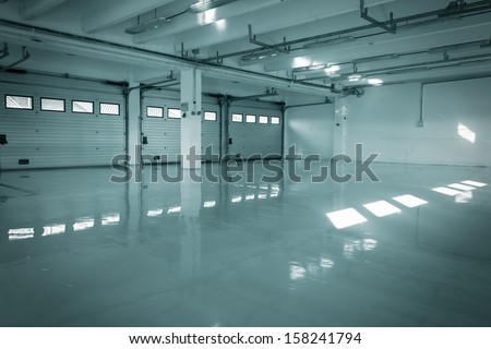 auto-motor speedway garage - stock photo