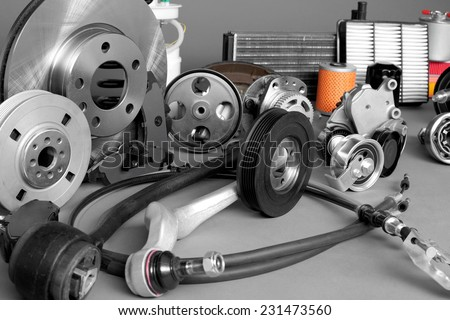 Auto parts - stock photo