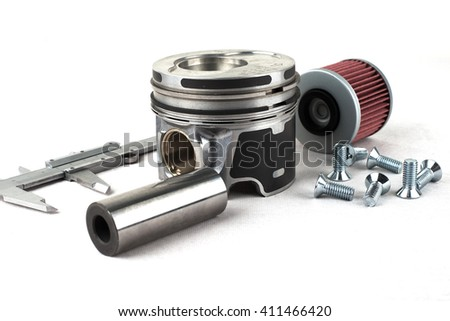 auto parts on a white background
