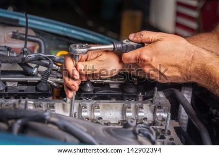 Auto Repair Shop - stock photo