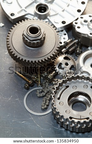 auto spare parts - stock photo