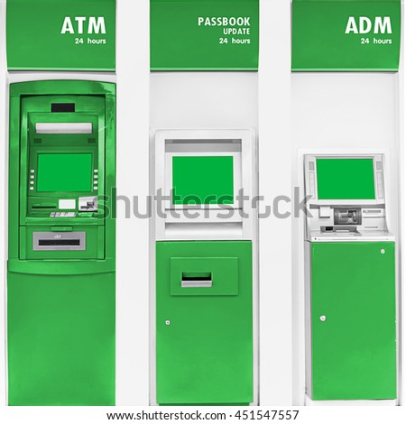 Automatic banking service machine point.
