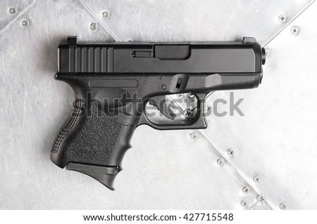 automatic black gun - stock photo