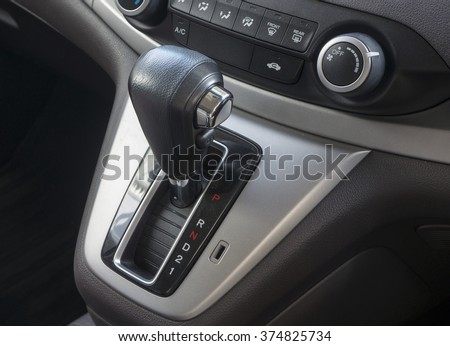 Automatic gear shift of a car - stock photo