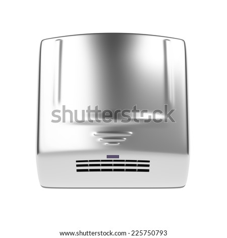 Automatic hand dryer isolated on white background