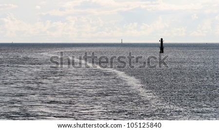 Automatic lighthouses in the archipelago of the Aland Islands, Finland - stock photo